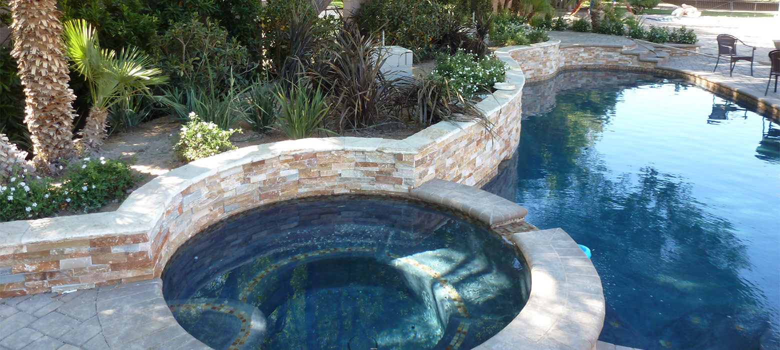Swimming Pool Water Feature Landscaping